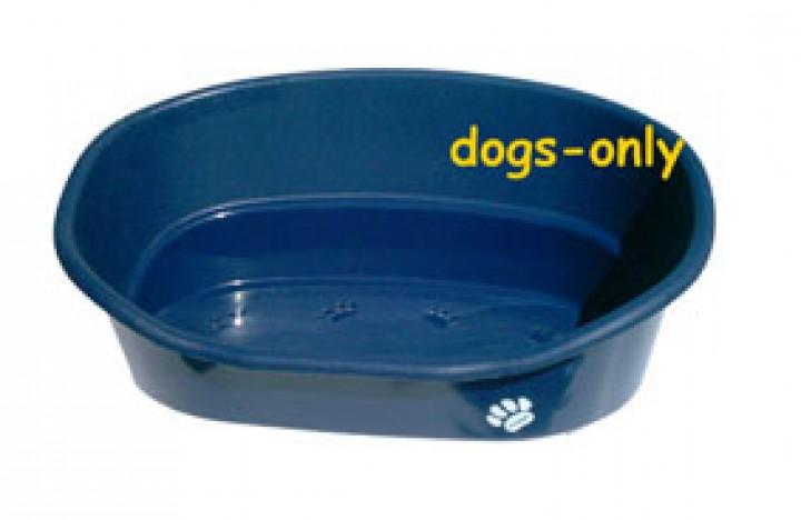 Hundekorb Kunststoff mit Wendekissen 56 cm, grün