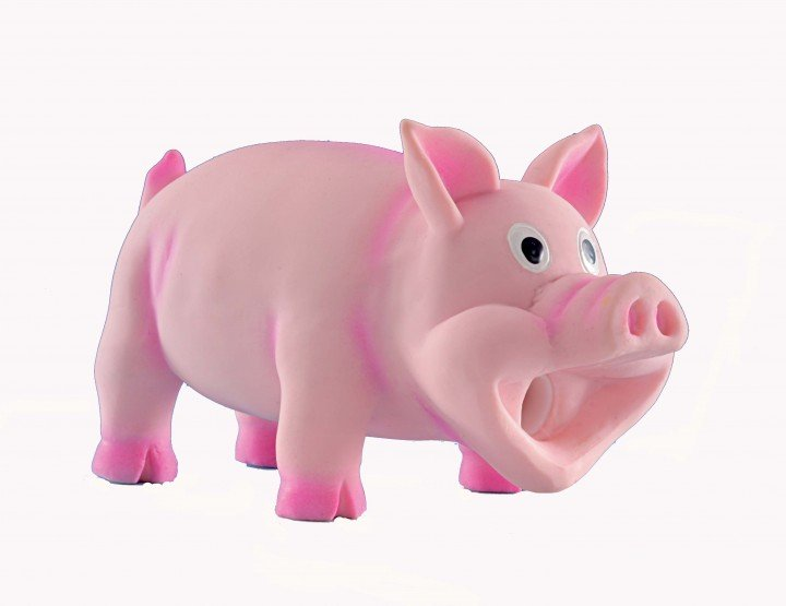 Latexschwein - mit Grunzstimme Gr. S